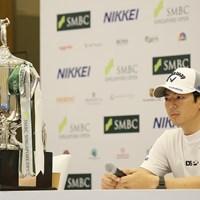 公式会見に出席した石川遼 2020年 SMBCシンガポールオープン 事前 石川遼