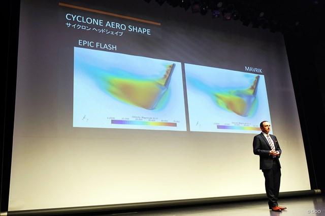SIMとマーベリック 2020年注目1Wの意外な共通点 キャロウェイ発表会にて「サイクロン形状」についての説明