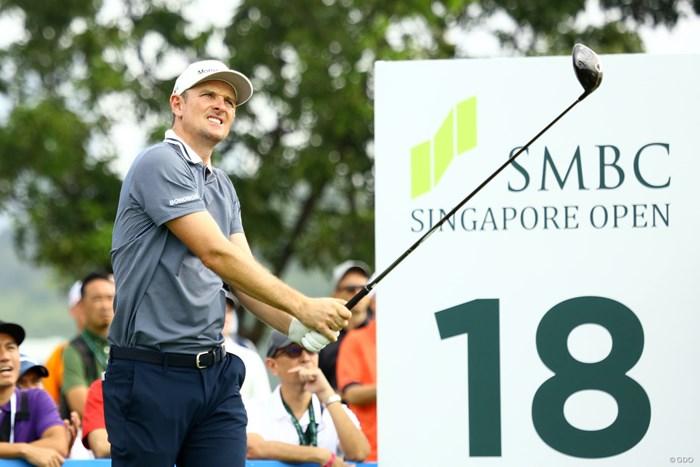 好調とはいえない内容でも3アンダー。ジャスティン・ローズは上々スタート 2020年 SMBCシンガポールオープン 初日 ジャスティン・ローズ