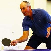 卓球も得意のマット・クーチャー 2020年 SMBCシンガポールオープン  2日目 マット・クーチャー