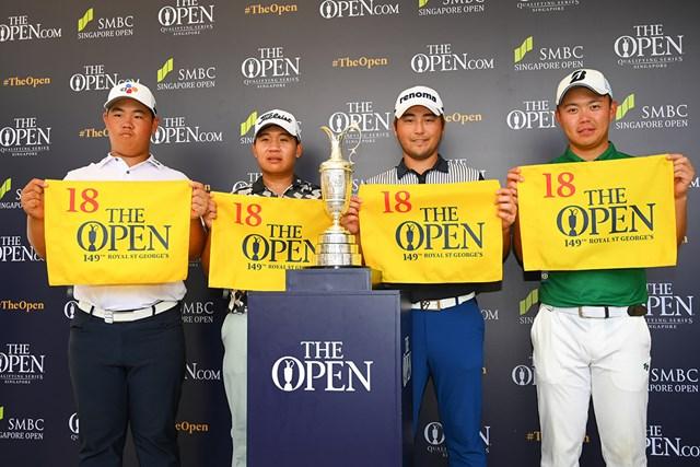 木下稜介(右)ら4人が全英切符を手にした