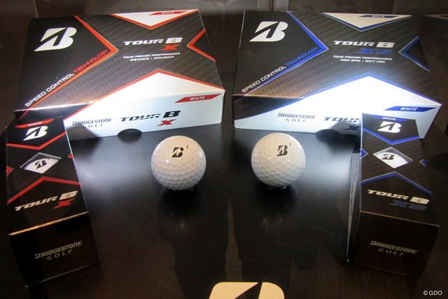 2月21日に発売されるブリヂストンの最新ボール「ツアーB X」と「ツアーB XS」