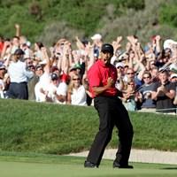 2008年の全米オープンでもウッズのドラマを彩ったサウスコース18番(Charles BausIcon/Getty Images) 2020年 ファーマーズインシュランスオープン 事前 タイガー・ウッズ