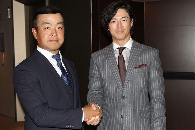 時松隆光(左)は石川遼からバトンを受け取った