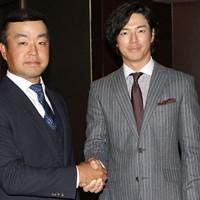 時松隆光(左)は石川遼からバトンを受け取った 2020年 時松隆光 石川遼
