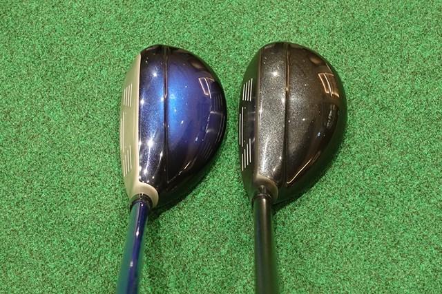 「イレブン」(左)と「エックス」(右)。ヘッドは同じだが、エックスのほうが引き締まって見える