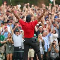 タイガー・ウッズ(Al Tielemans /Sports Illustrated via Getty Images) 2019年 マスターズ 最終日 タイガー・ウッズ