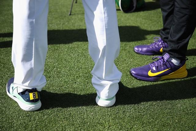 左がデシャンボー、右がフィナウの靴(Christian Petersen/Getty Images)
