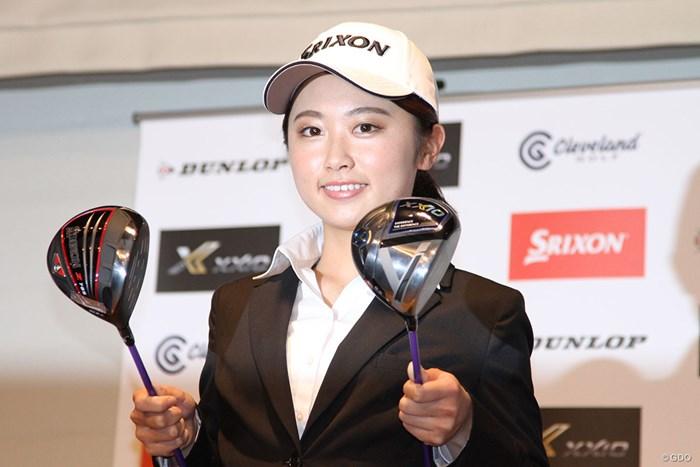 ゴルフを始めたころから住友ゴム工業のクラブで腕を磨いてきた 2020年 契約発表会見 安田祐香