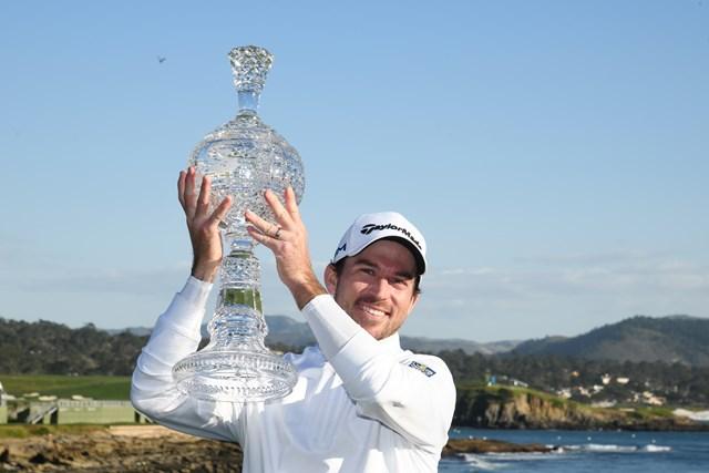 2020年 AT&Tペブルビーチプロアマ 最終日 ニック・テイラー 6年ぶりの優勝を飾ったニック・テイラー(M. HaffeyGetty Images)