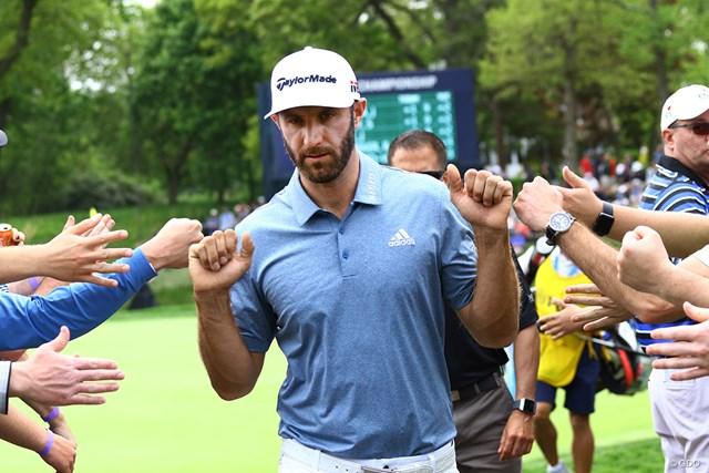 トップ10をキープし続けているダスティン・ジョンソン※撮影は2019年「全米プロゴルフ選手権」