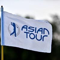 アジアンツアーピンフラッグ(アジアンツアー提供) 2020年 アジアンツアーピンフラッグ
