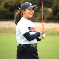 「本当に試合が楽しい」と頬を緩めた表情に(※大会提供) 2020年 ISPS HANDA オーストラリア女子オープン 2日目 吉田優利