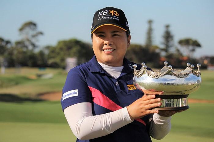ツアー通算20勝目を挙げた朴仁妃(※大会提供) 2020年 ISPS HANDA オーストラリア女子オープン  最終日 朴仁妃