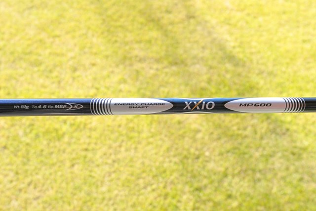 オリジナルシャフト「MP500」はしっかりしていて、フレックスSならヘッドスピード40~45m/sに対応する