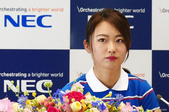 2020年 安田祐香 NECとの所属契約会見に臨んだ安田祐香