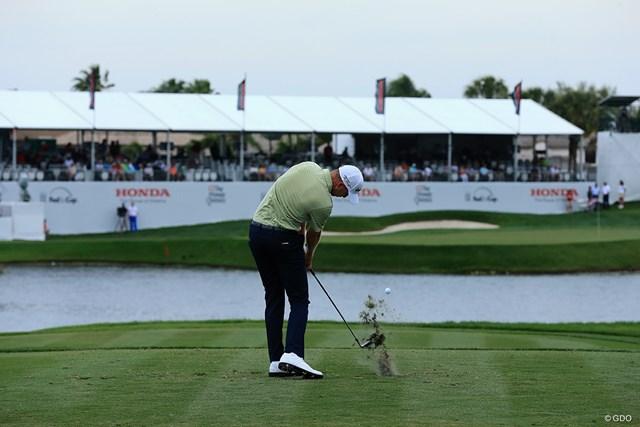 """2020年 ザ・ホンダクラシック 事前 PGAナショナル・チャンピオンコース 17番 ジャック・ニクラスが仕掛けた""""ベアトラップ""""は最後が一番難しい(David Cannon/Getty Images)"""