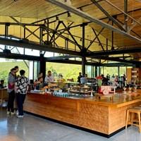 農園にはカフェもありました 2020年 オマーンオープン 事前 コスタリカのコーヒー農園