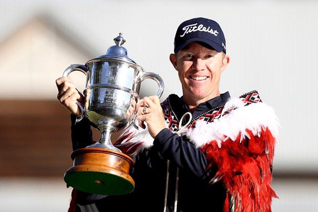 2020年 ニュージーランドオープン  最終日 ブラッド・ケネディ ブラッド・ケネディが逆転で2011年大会以来の優勝を果たした(Hannah Peters/Getty Images)