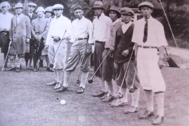 1926年 第1回「日本プロ」出場選手 第1回「日本プロ」に出場した(左から)宮本留吉、関一雄、村上伝二、福井覚治、安田幸吉、越道政吉 ※提供:武藤一彦