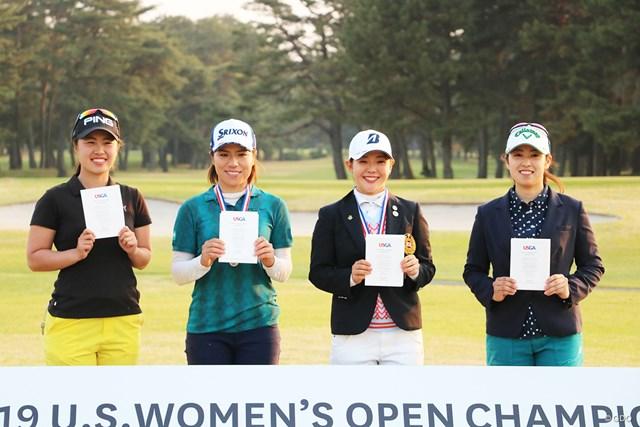 2019年 全米女子オープン 事前 上野菜々子  岡山絵里 吉田優利 天本遥香 予選会を通して2019年大会の切符を手にした4人