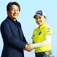 GOLFZON Japan株式会社の今野晃広代表取締役と青山加織 青山加織