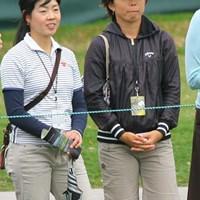 女子プロゴルファーの西山ゆかりと矢崎和が観戦。2人は現在アニカアカデミーで練習をしている 2010年 アーノルド・パーマーインビテーショナル最終日 西山ゆかり、矢崎和
