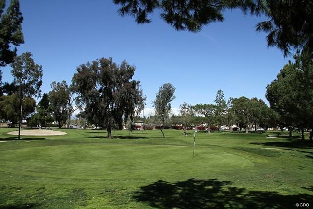 ハートウェルGC ロサンゼルス郊外のハートウェルGC。この3番ホールでウッズは人生初バーディ