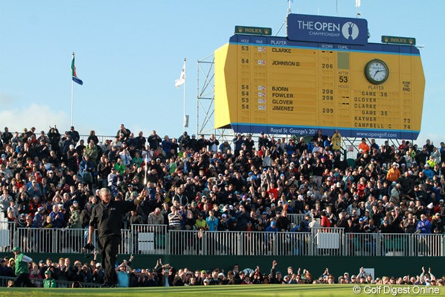 2011年 全英オープン 3日目 最終ホール ダレン・クラークが制した2011年大会以来となるロイヤルセントジョージズGCでの開催はどうなるのか…