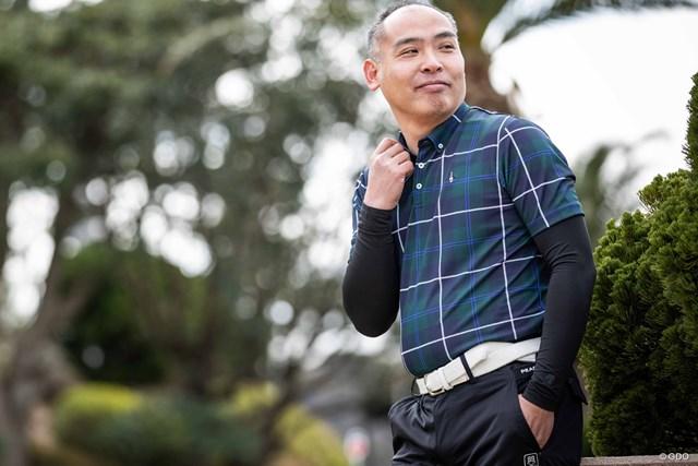マンシングウェア タータンチェック半袖シャツ ネイビー×グリーン(価格1万8000円+税)