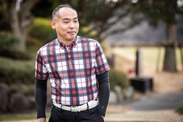 マンシングウェア タータンチェック半袖シャツ レッド×ホワイト(価格1万8000円+税)