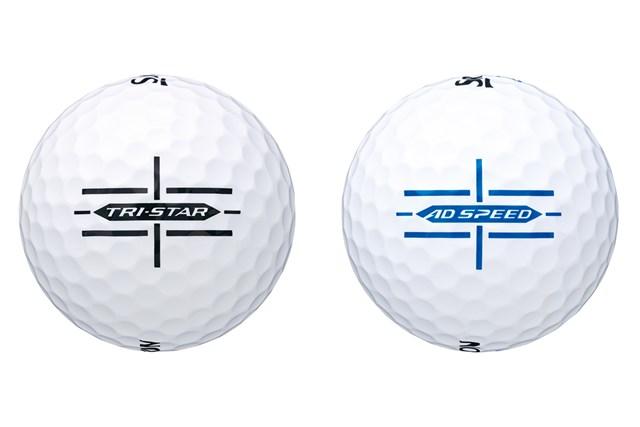 ナビゲートラインで方向性アップ 「スリクソン」の新ボール「トライスター」と「ADスピード」 新たに「ナビゲートライン」が採用された