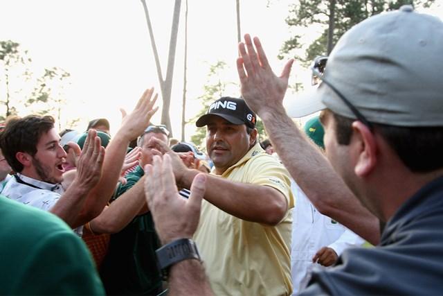 2009年 マスターズ(延期) 事前 アンヘル・カブレラ 南米勢初の王者に輝いたカブレラ(Ross Kinnaird/Getty Images)