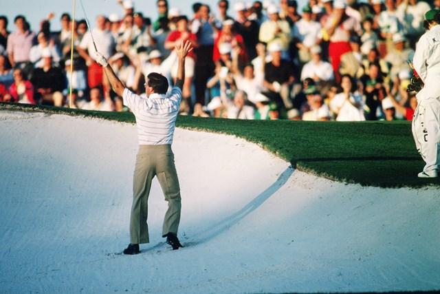 1986年 マスターズ 中嶋常幸 AONの中で最もマスターズ優勝に近づいた中嶋常幸。1986年は8位に入った(Augusta National/Getty Images)