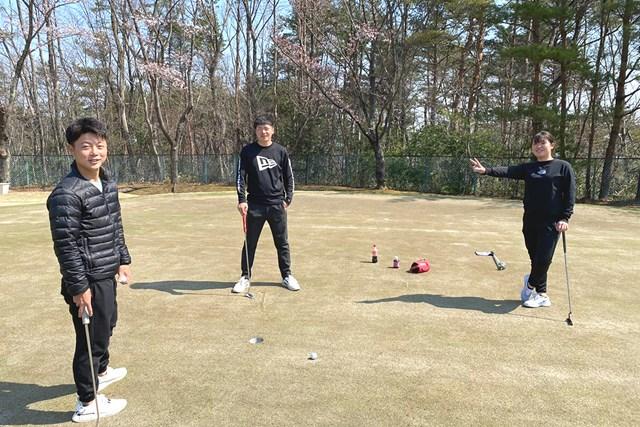 部員たち 東北福祉大ゴルフ部の部員たち(提供:金谷拓実)