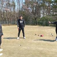 東北福祉大ゴルフ部の部員たち(提供:金谷拓実) 部員たち