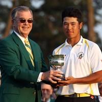 2011年にローアマに輝いて表彰式に出席した松山英樹。グリーンジャケットを羽織る日が見たい(Ross Kinnaird/Getty Images for Golf Week) 2020年 マスターズ(延期) 事前 松山英樹