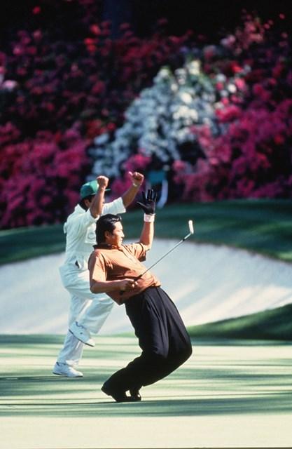 1991年 マスターズ 尾崎将司 レジェンド尾崎将司は日本人のマスターズに関わるさまざまな記録を保持 (Augusta National/Getty Images)