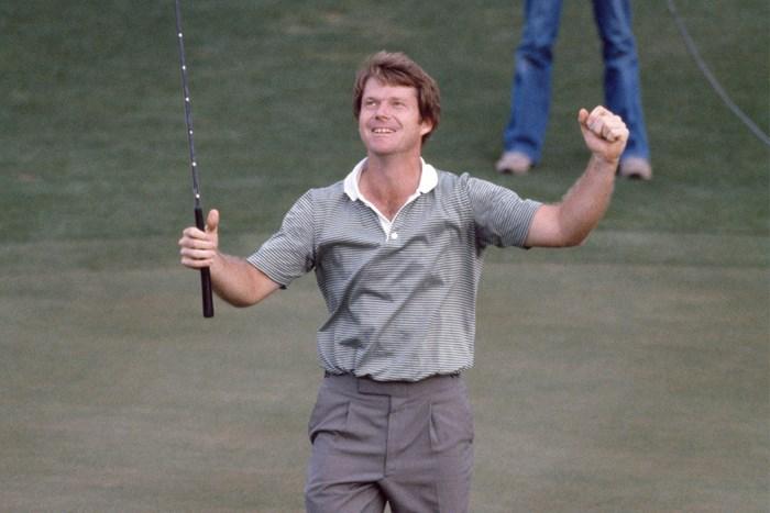 1981年、大会2勝目を挙げたトム・ワトソン(Leonard Kamsler/Popperfoto via Getty Images) 1981年 マスターズ 最終日 トム・ワトソン