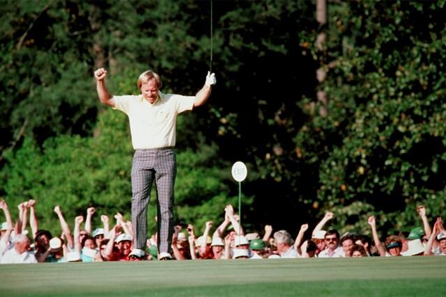 1986年 マスターズ 最終日 ジャック・ニクラス 1986年、大会史上最年長46歳で頂点に立ったジャック・ニクラス(Augusta National/Getty Images)