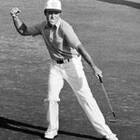 1978年の最終日に最終ホールでバーディを決めて「64」をマークしたゲーリー・プレーヤー。後続を1打差で振り切った(Peter Dazeley/Getty Images) 1978年 マスターズ 最終日 ゲーリー・プレーヤー