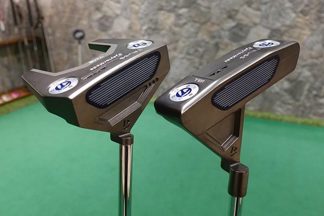 新製品レポート トラス パター 三角ネックの斬新な形状「トラス パター」を試打(左:TM2、右:TB1)