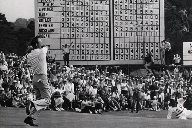1964年 マスターズ 最終日 アーノルド・パーマー 1964年、4度目のマスターズタイトルを手にしたアーノルド・パーマー(Augusta National/Getty Images)