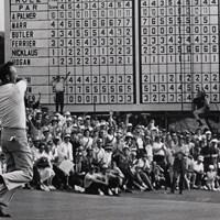 1964年、4度目のマスターズタイトルを手にしたアーノルド・パーマー(Augusta National/Getty Images) 1964年 マスターズ 最終日 アーノルド・パーマー