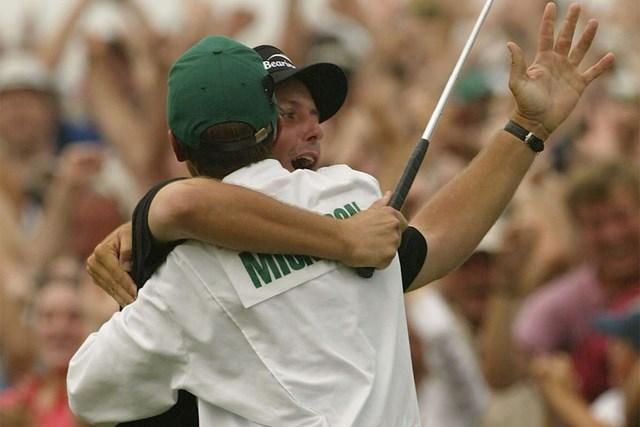 2004年 マスターズ 最終日 フィル・ミケルソン 2004年大会を制したフィル・ミケルソン。初のメジャータイトルだった(Harry How/Getty Images)