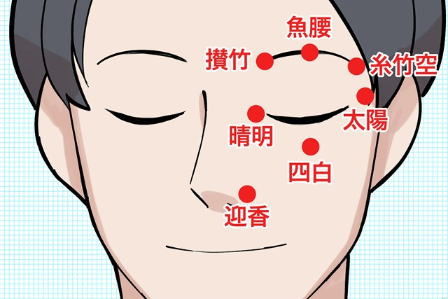 目の疲れをスッキリさせる 効果的な7つのツボ