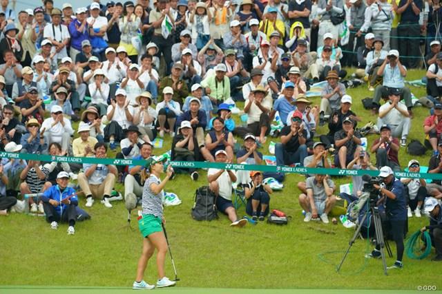 2019年 ヨネックスレディスゴルフトーナメント 最終日 上田桃子 日本ツアーは6月の「ヨネックスレディス」でシーズン開幕となるかどうか(写真は昨年大会を制した上田桃子)