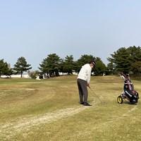 定番プランのひとつだった1人プレー。運動不足解消に最適という(ゴルフ場提供) 2020年 姫路シーサイドゴルフコース
