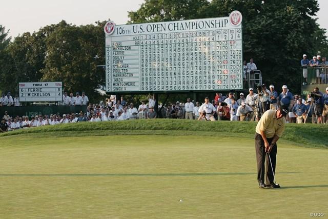 フィル・ミケルソン 2006年「全米オープン」。ミケルソンは最終ホールでビッグタイトルを逃してしまった