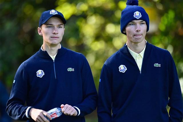 双子のホイガールト兄弟、ニコライとラスムス(Aurelien Meunier/Getty Images)